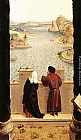 Rogier van der Weyden St Luke Drawing the Portrait of the Madonna [detail 1] painting